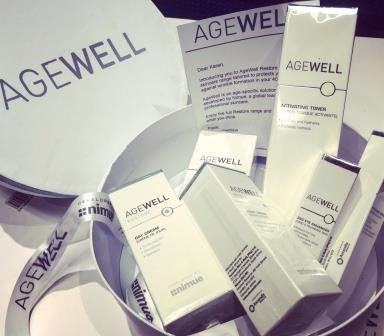AgeWell skin care range in box