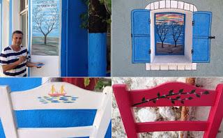 Ένα καφενείο ζωγραφιά… στην Τρυγωνα Λέσβου (PICS)