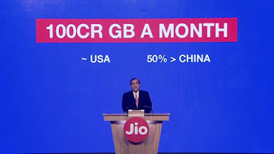 100cr GB of data on JIO