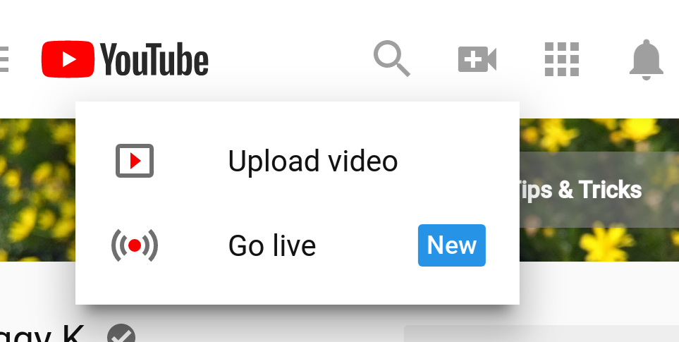 how to go live on youtube on a computer