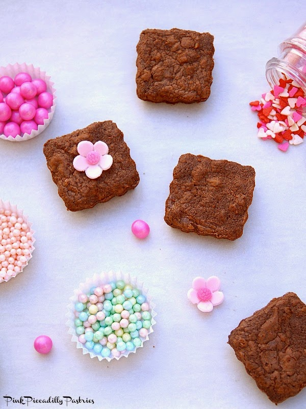 Valentine Brownie: Pink Piccadilly Pastries: Brownie Bites For Valentine's Day