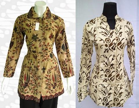 Model Baju Kerja Batik Modern Model Baju Kerja Batik Wanita