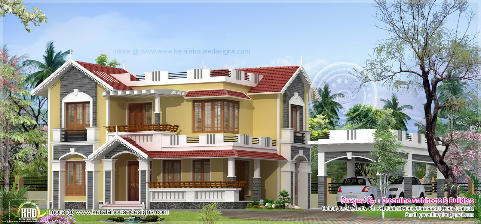 Separate Porch Home In 2264 Kerala Home Design