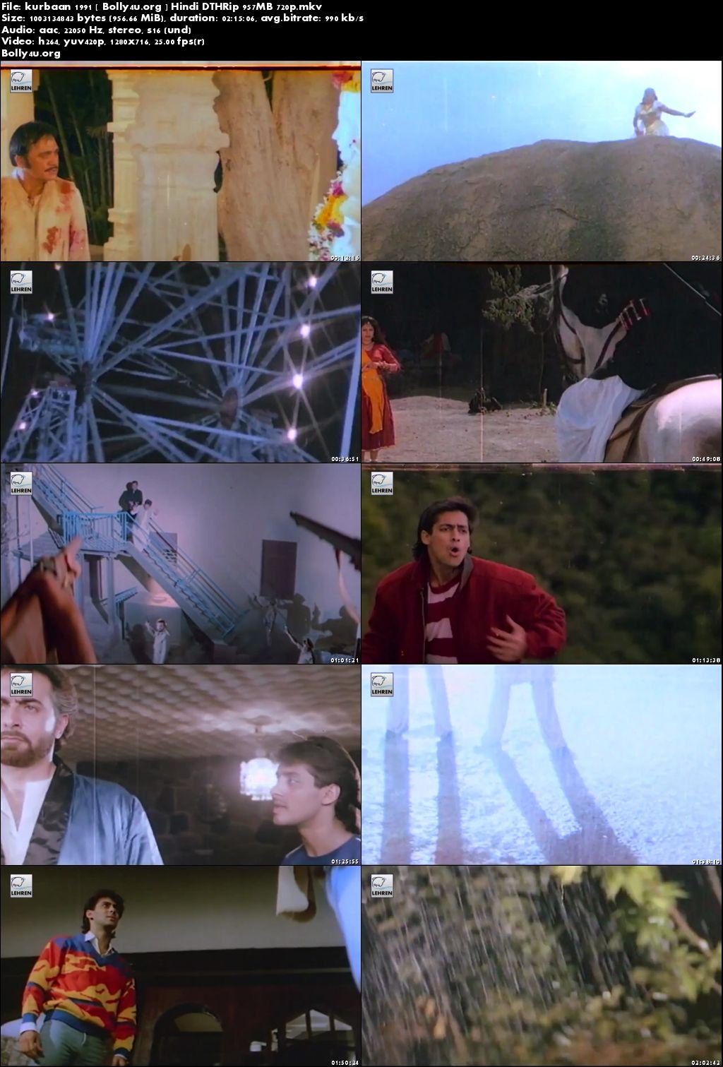 Kurbaan 1991 DTHRip 400MB Full Hindi Movie Download 480p