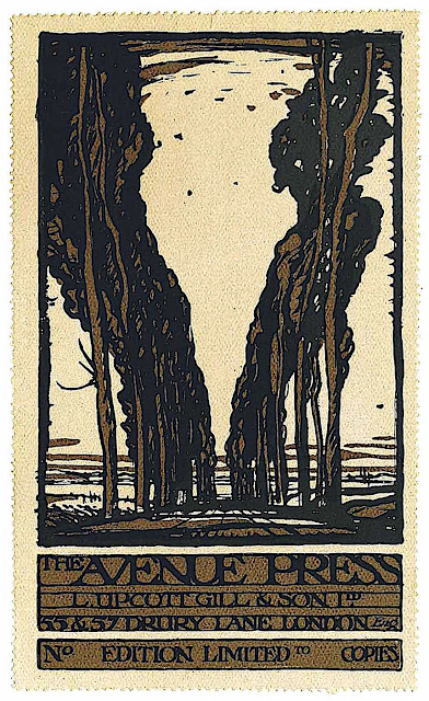a Frank Brangwyn bookplate, the Avenue Press