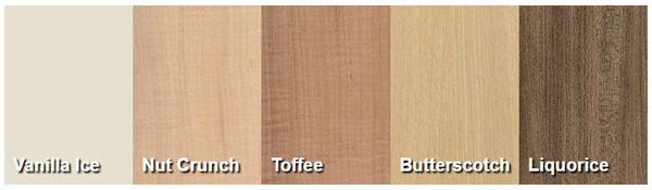 Colour choices from Contiboards