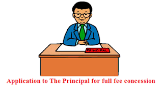 Application for full fee concession