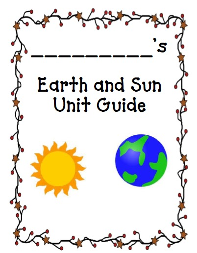 K-2 is Splendid!: Earth and Sun printable