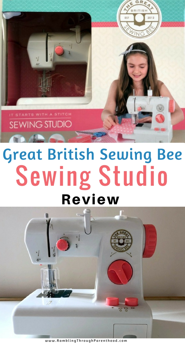 The Great British Sewing Bee Sewing Studio comes fully equipped with a pro sewing machine with features like a finger safety guard, auto speed settings,  and a thread spool compartment. It can be battery operated or you can plug it into the mains. The Sewing Studio is aimed at ages 6 and above, but only with adult supervision. Creating with the Sewing Studio can be a fun family project, something to spend time together and bond over.