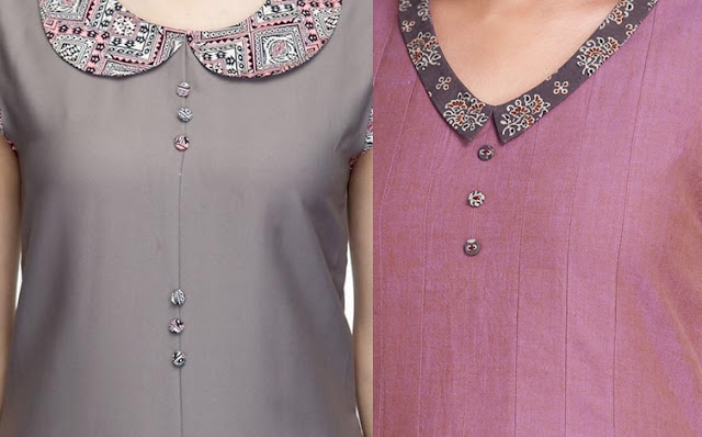 Stand Collar Designs For Kurti : Stylish kurti neck designs with buttons to try in