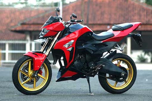 Modifikasi Honda Mega Pro Streetfighter
