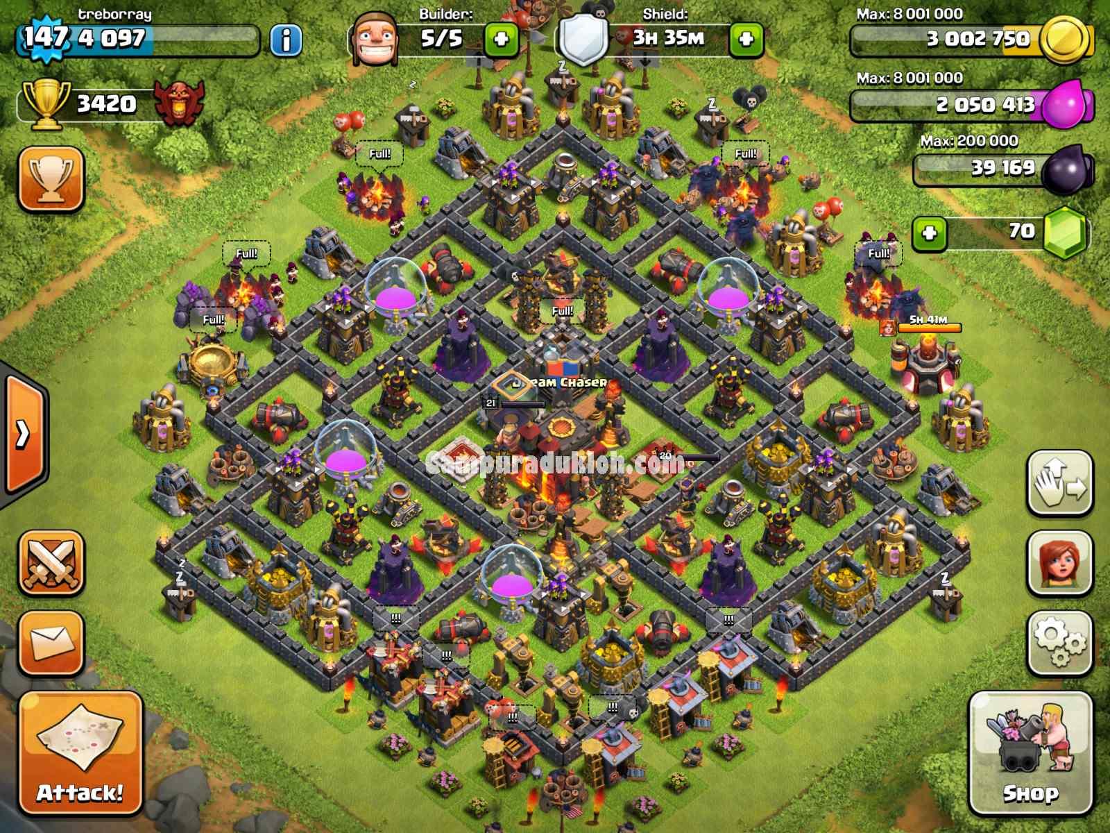 Base Coc Th 10 War Terkuat
