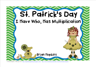 FREEBIE St. Patrick's Day I Have Who Has Multiplication