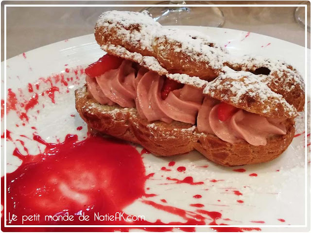 Paris Brest Rhubarbe et fraise Bouillon Racine
