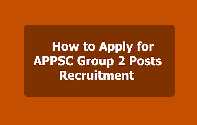 How to apply for APPSC Group 2 Posts