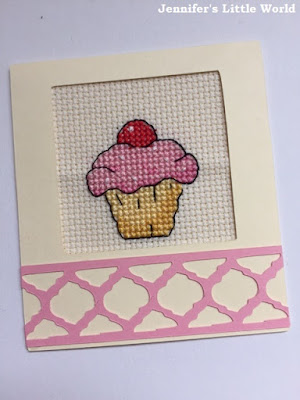 Mini cross stitch cupcake