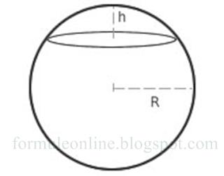 calota sferica formule