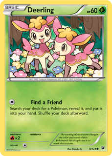 Deerling Fates Collide Pokemon Card