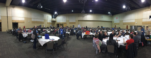 Late-night crowd at SaltCON