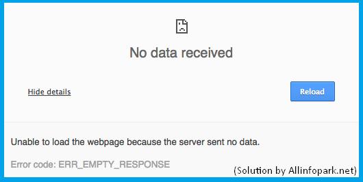 Solve err_empty_response