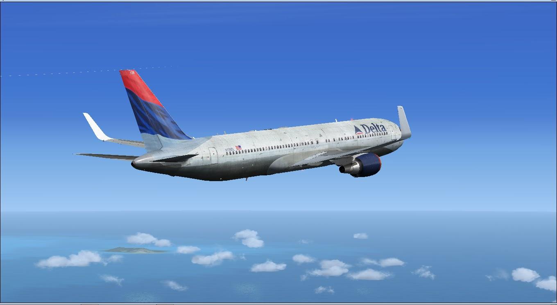 Download Delta Project Opensky 767 | Waktu Bersimulasi | Waktu