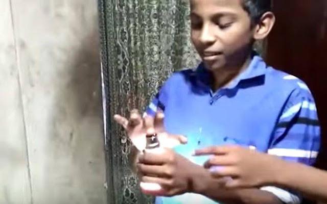 Το Αγόρι... Μπαταρία - Αγγίζει Λάμπες Και Αυτές... Ανάβουν!! - Βίντεο