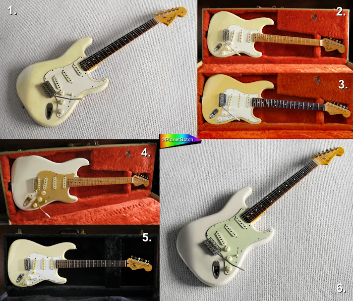 Olympic White guitars in different shades