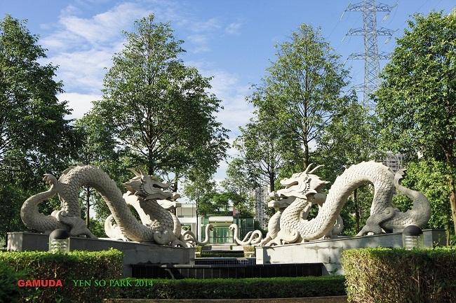 khai trương công viên yên sở gamuda land việt nam