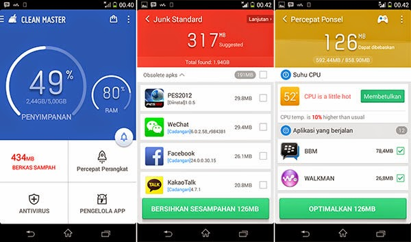 Clean Master Speed Booster Apk