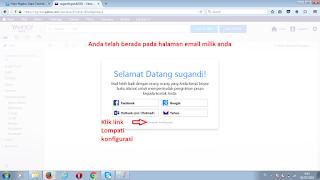 Halaman mailbox dengan pesan