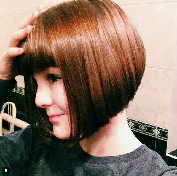Blunt Graduated Bob with Full Fringes