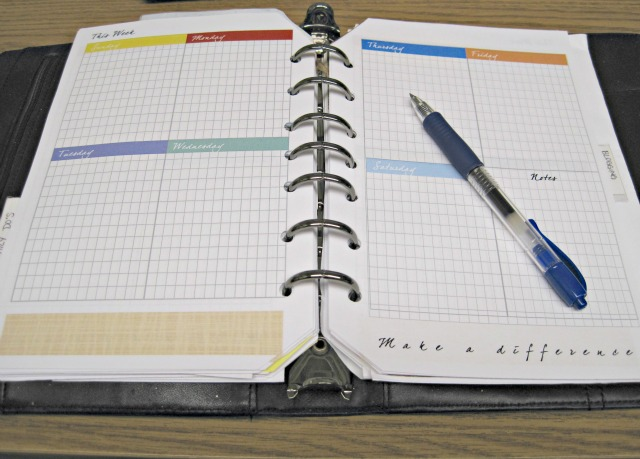 Week on two pages organizer printable planner pages