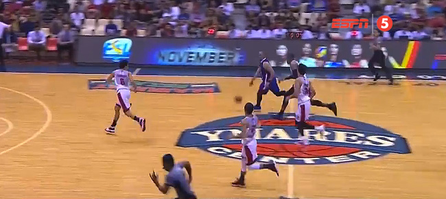 Paul Lee Gets Past Four Ginebra Defenders For The Reverse (VIDEO)