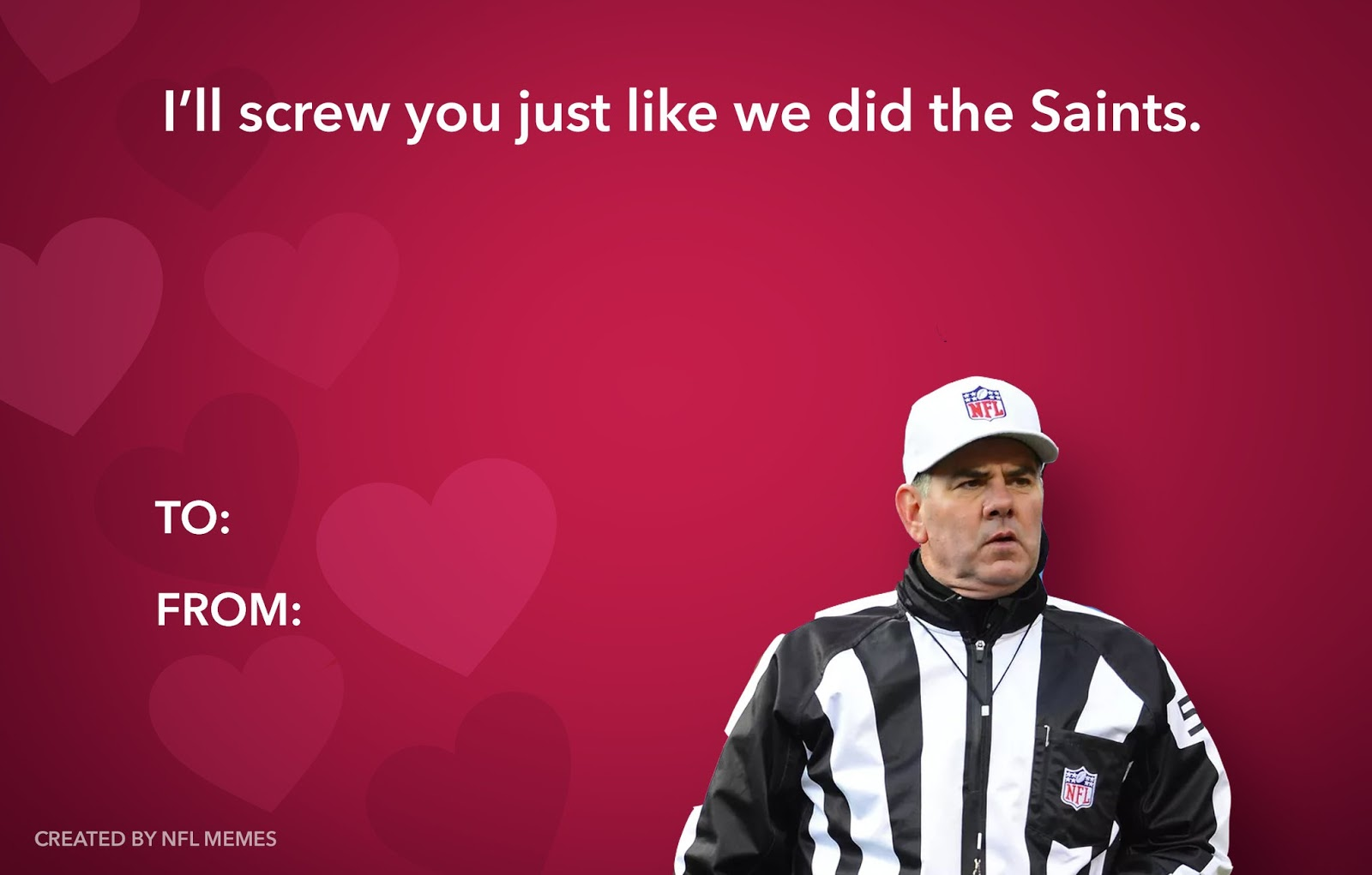 NFL Valentine Card Memes
