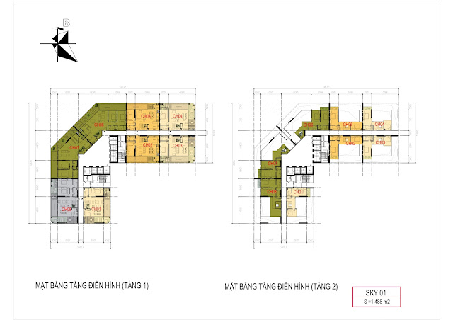 Thiết kế căn hộ biệt thự Sky Villas Sunshine Crystal River Ciputra