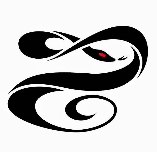 Snake tattoo stencil