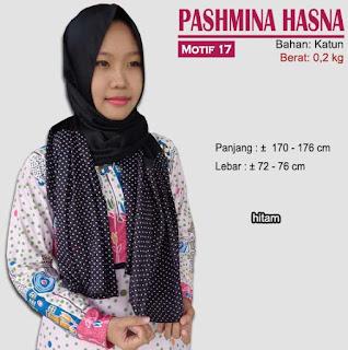 Pashmina monochrome murah bergaya modern dan trendy-hasna 17