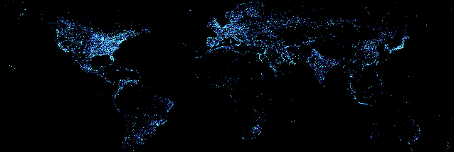 "Splinternet --Source Image Credit: NASA/NOAA ""Earth at Night"""