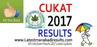 CUKAT 2017 Result, CUKAT Result 2017