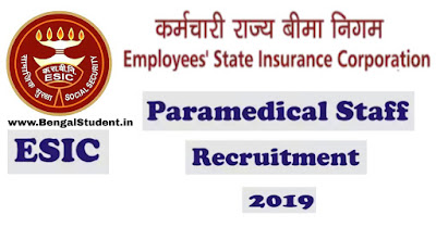 ESIC Paramedical and Nursing StafF WWW.bengalstudent.in