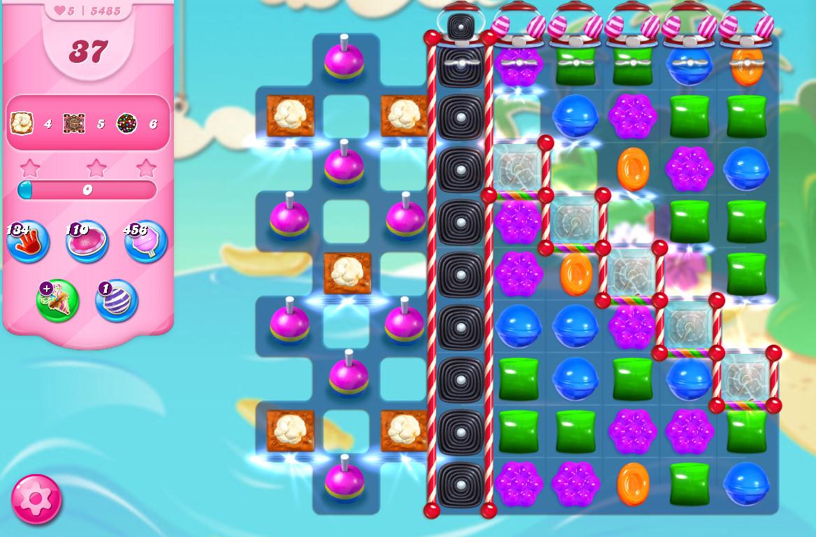 Candy Crush Saga level 5485