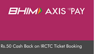 Cashback on Train Tickets, IRCTC Offer, Cashback on Train Tickets, Discount on Train Tickets, Cashback on Tickets Bookings,  Firstly Happy Makar Sankranty to You & Your family. , Hope you're enjoying our Free Recharge Tricks & Tez Scratch Card Offer To Earn Money. This Time BHIM Axis Pay UPI App came with awesome Offer Through which you will Get Rs.50 Cash Back on IRCTC Ticket Booking through BHIM Axis Pay UPI App. Below are the Details, How To Get Cashback on Train Tickets Bookings?  How Avail this Offer, Cashback of Rs 50 on Tickets Bookings by IRCTC.   *  Visit IRCTC website for booking train ticket and enter the required details. On payment page select UPI option for making payment.  * Enter your Axis Bank UPI ID to proceed.  * Approve payment request received on BHIM Axis Pay app by entering your UPI PIN.  * You will receive flat Rs. 50 cashback within 15 days of successful transaction.  * If you do not have Axis Bank VPA, You can  download and install BHIM Axis Pay UPI App from Google PlayStore or Apple App Store.  * Register on BHIM Axis Pay UPI App, add any bank account and create your own UPI ID  * Offer valid up to February 15,2018