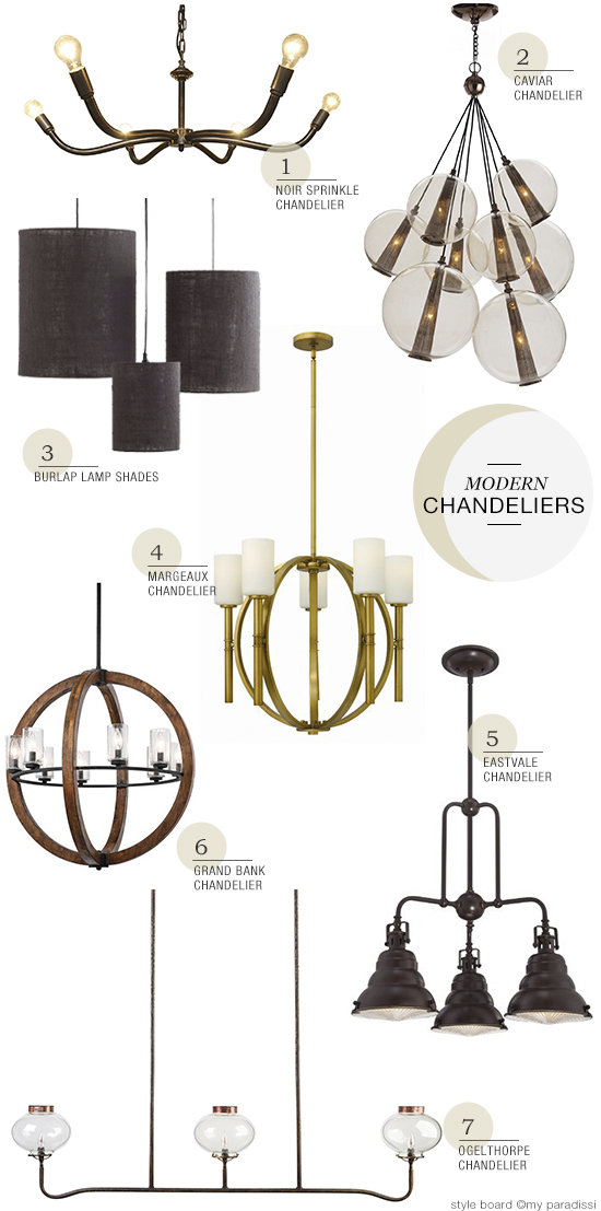 Modern chandeliers roundup at myparadissi.com