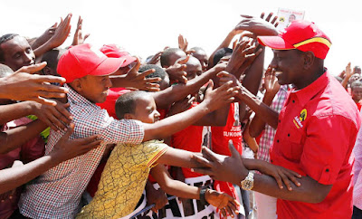 DP William Ruto in Mandera pushing Jubilee agenda. PHOTO | Courtesy PSCU