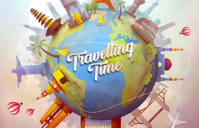 travelling time, travelling, travel, illustration, drawing, digital painting, ryan mahendra