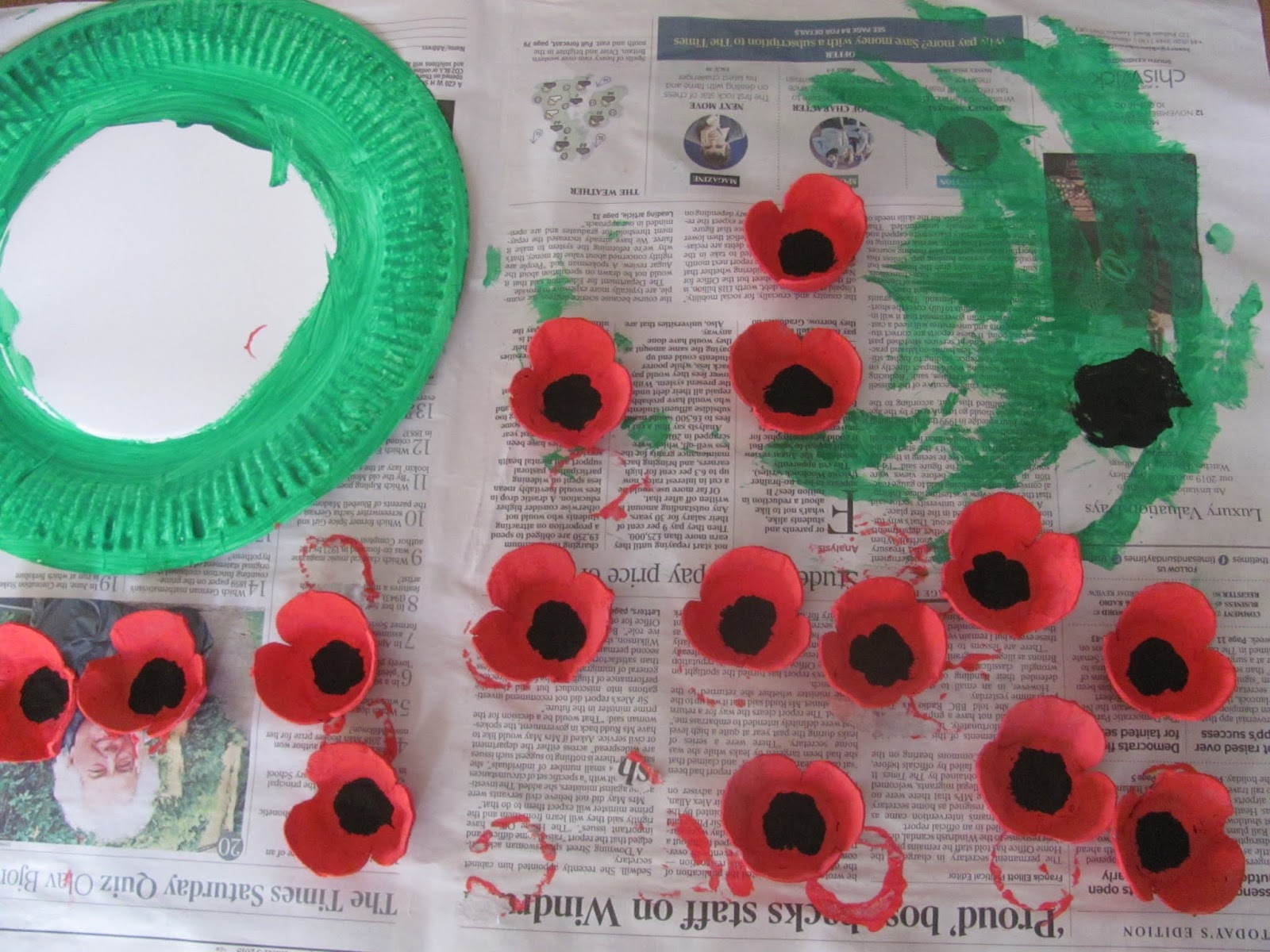 Jumble Tree Poppy Egg Carton Craft For Remembrance Day