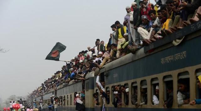 Mudik Naik Kereta, Tradisi Gila Pemudik di Bangladesh Saat Memilih Kereta Api Untuk Transportasi