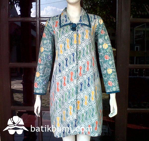 Tunik Batik Cap motif Parang w/ Trikot DB 067