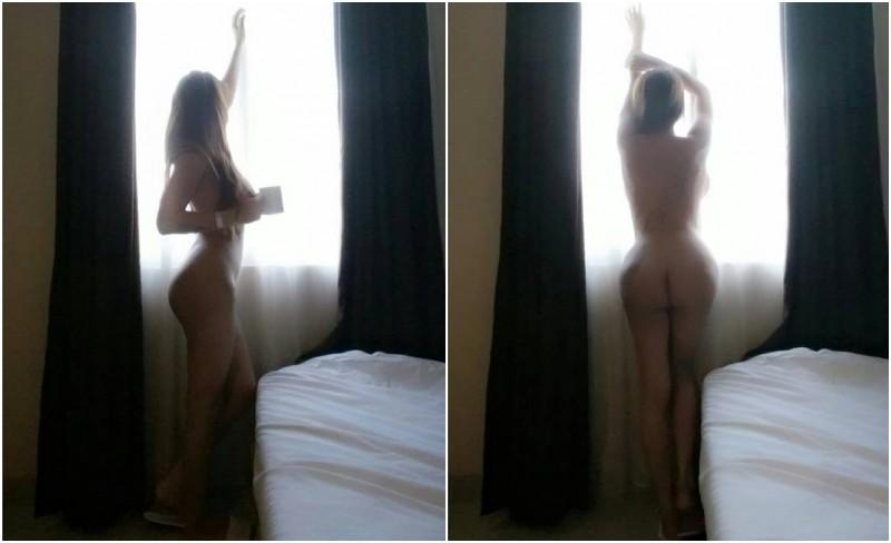 Gebby Vesta memamerkan foto telanjang
