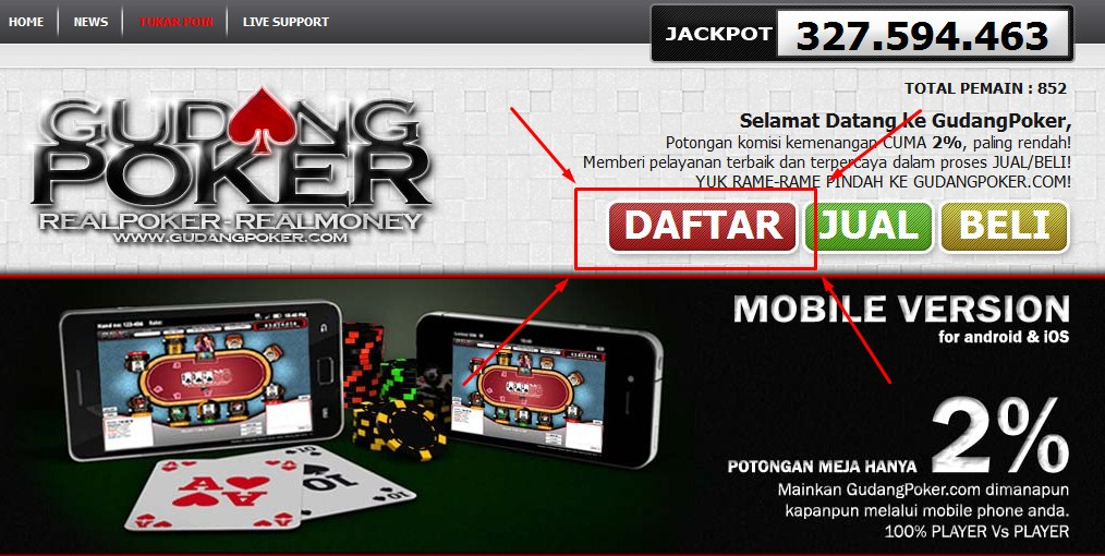 Cara Mendaftar Deposit Bermain Dan Withdraw Di Situs Poker Terpercaya Gudang Poker Dhina Online
